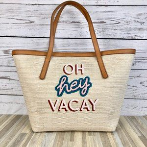 Fossil Jeanne Beach Tote 'Oh Hey Vacay' Large Bag